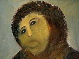 Волосатая обезьяна шедевр фреска