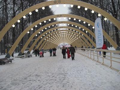 Всепогодная лыжная дорога открылась впарке «Сокольники»