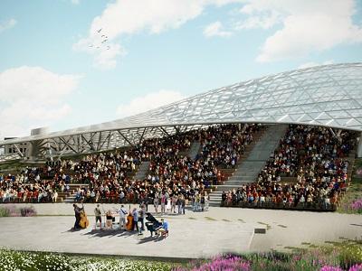Столичные власти утвердили архитектурный проект амфитеатра натерритории парка «Зарядье»