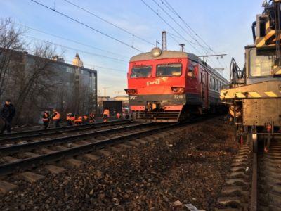 Появилось видео столкновения поездов в столицеРФ