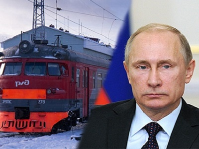 Путину показали самые новые поезда вдепо Москва-Киевская