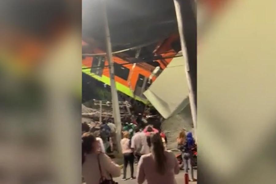 При обрушении метромоста в Мехико погибли шесть человек