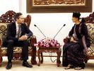 Finnish Minister Kai Mykkanen met Myanmar's State Counsellor Aung San Suu Kyi