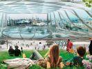 """Более 150 солнечных батарей установят на стеклянный купол в """"Зарядье"""""""