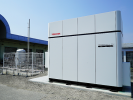 Toshiba's first 100kW pure hydrogen fuel cell system has started commercial operation at the wholesale flower market in Shunan