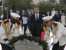 Dmitry Medvedev lays a wreath at the Martyrs' Memorial