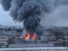 В Санкт-Петербурге загорелся гипермаркет «Лента»