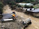 В Сочи из-за ливня обрушился временный автомобильный мост