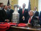 Дональд Трамп принял хоккеистов «Вашингтон Кэпиталз»