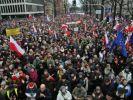 Общенациональный европейский марш проходит по улицам Варшавы