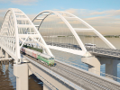 Завершено строительство первого железнодорожного пути через Крымский мост