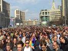 На согласованный митинг в поддержку Ивана Голунова пришли около  1.8 тысяч человек
