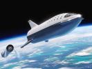 Илон Маск представил новый сияющий космический корабль