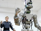 """In Russia Launched into Space Robot """"Fedor"""""""