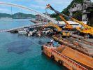 На Тайване обрушился автомобильный мост