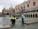 Уровень воды в Венеции начал снижаться после достижения рекордной отметки