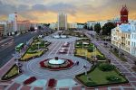 В столице Белоруссии ОМОН перекрыл движение на проспекте Независимости