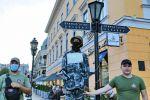 В Одессе поддержали белорусские протесты и символически повесили манекен ОМОНовца