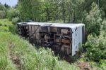 В Хабаровском крае перевернулся пассажирский автобус