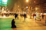 Night Paris. Champs-Elysee