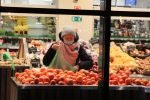 A woman in the supermarket