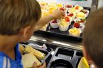Students at Kimberly Lane Elementary school in Plymouth had fresh fruit options in the cafeteria.
