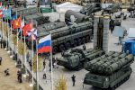 Exhibition of Russian weapons.