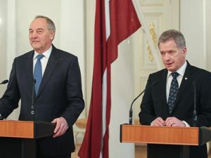 Presidents of Latvia and Finland discuss closer cooperation