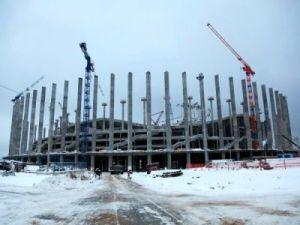 В Н.Новгороде завершено возведение 88 трёхгранных колонн стадиона к ЧМ-2018