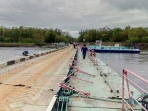 Через реку Суру в Чувашии открылась понтонная переправа