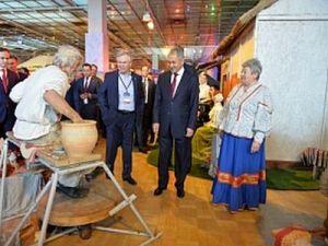Сергей Шойгу отметил экспозицию Кубани на III фестивале Русского географического общества