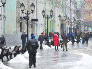 Тёплая погода и мокрый снег ожидаются в Москве