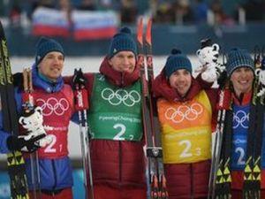 Российские лыжники завоевали серебряные медали на Олимпийских играх в лыжной эстафете