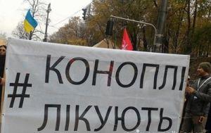 В Киеве 200 человек участвовали в «конопляном марше»