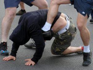 Двое представителей Украинских войск напали на пожилого человека