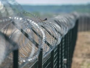 A Fence on the Border With Ukraine Was Erected in Crimea