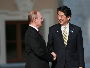 Putin's talks with Japanese Prime Minister Shinzo Abe began in Moscow
