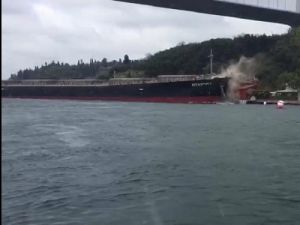 Russian Сargo Ship Crashed into a Bridge in South Korea