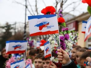 """In Crimea a Procession and Rally was Held on the 5th Anniversary of the """"Crimean Spring"""""""