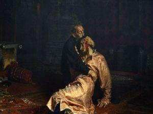 """Началась реставрация картины Репина  """"Иван Грозный и сын его Иван"""", которая была повреждена в прошлом году"""