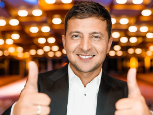 TV Comedian Zelensky Wins Presidential Race's First Round in Ukraine