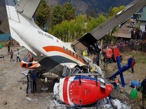 Самолёт столкнулся с вертолётом в аэропорту Непала