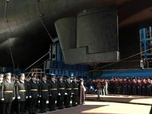 Russian Nuclear Drone Carrying Submarine Set Afloat