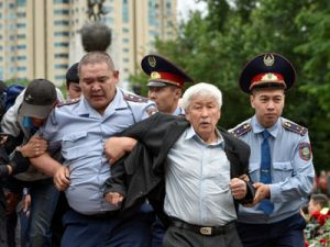 During the Early Presidential Elections in Kazakhstan More Than 100 Protesters Were Detained
