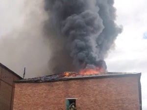 In Syktyvkar Industrial College is Burning