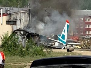 Passenger Aircraft in Russia Rolled Out of the Band and Caught Fire