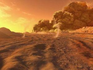 Серия пыльных бурь зафиксирована на Марсе