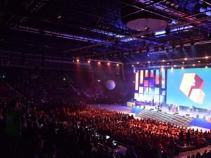 Kazan Arena Set Up a Stage for WorldSkills Opening Ceremony