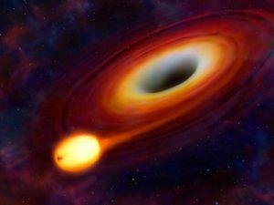 Учёные зафиксировали яркую вспышку чёрной дыры