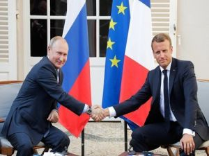 Macron Is Confident in European Future of Russia Following a Meeting with Putin